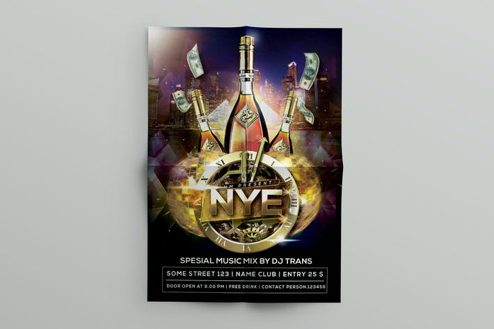 nye flyer template by dirtylinestudio on envato elements