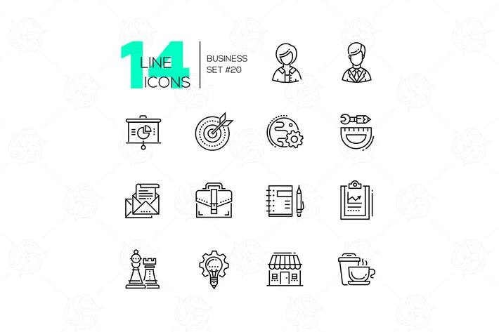Thumbnail for Business - moderne Linie Design Icons Set
