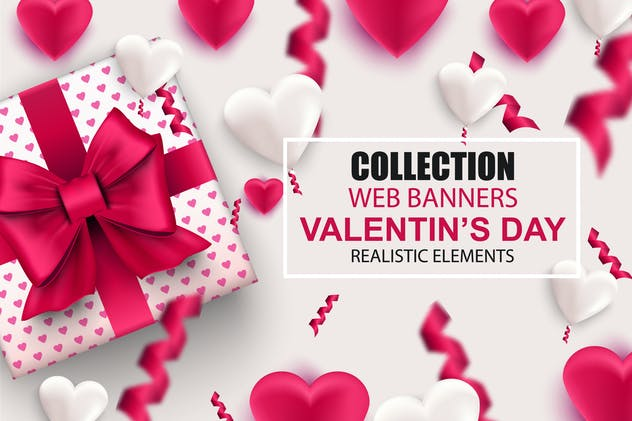 Collection Valentine's Day Web Banners Template