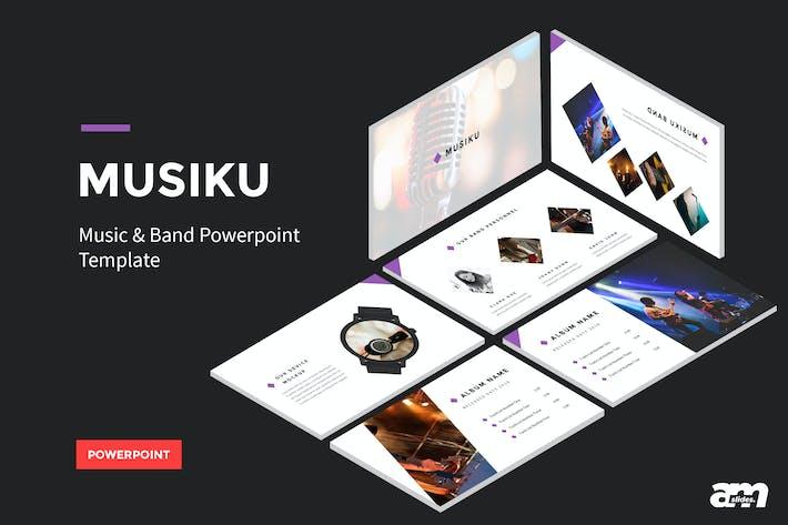 Thumbnail for Musiku - Modèle Powerpoint Musique et Bande