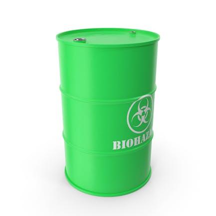 Biohazard Toxic Waste Barrel