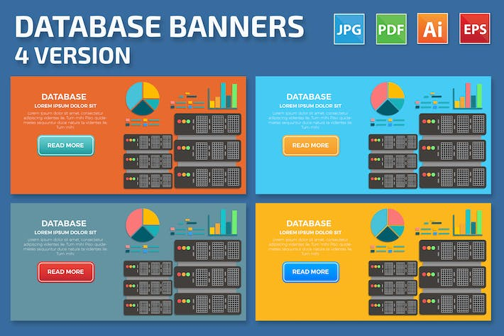 Thumbnail for Database Banners Design