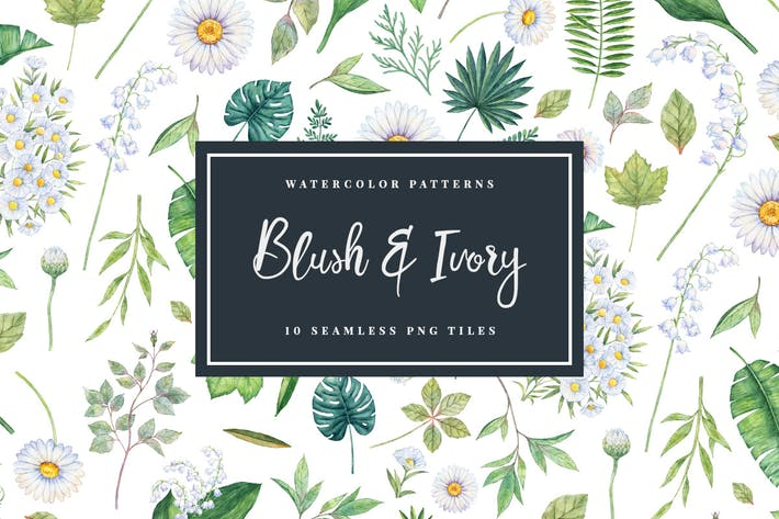 Thumbnail for Blush & Ivory - Seamless Patterns