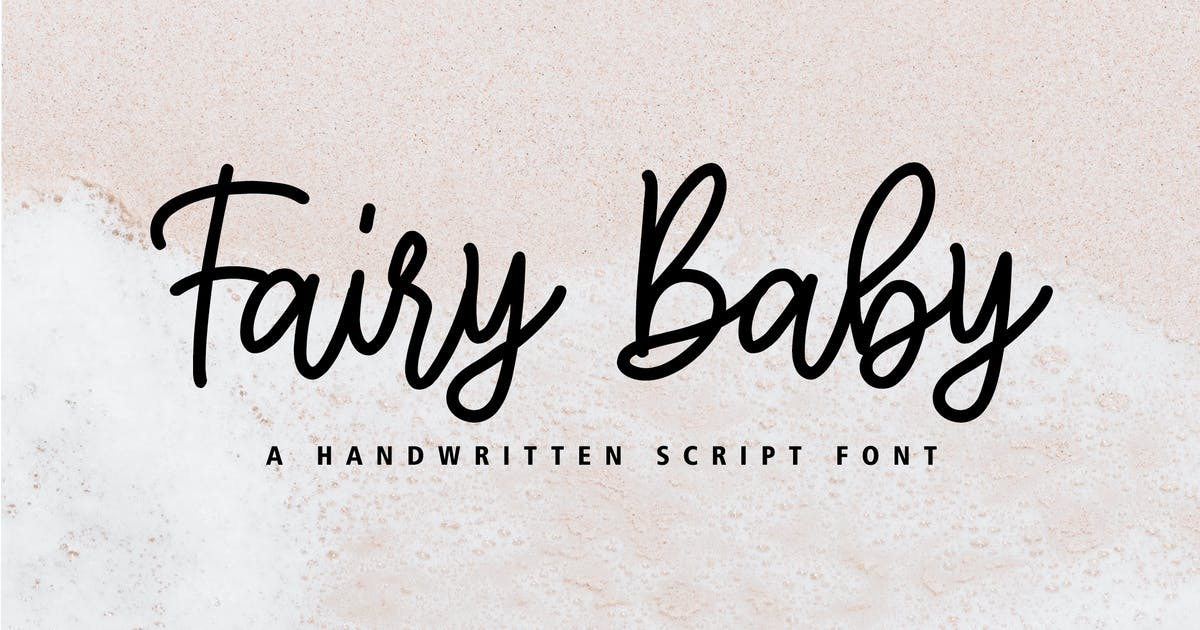 Download Fairy Baby - Signature Handwritten Font by yipianesia