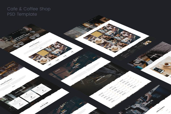 Thumbnail for Cafe & Coffee PSD Template