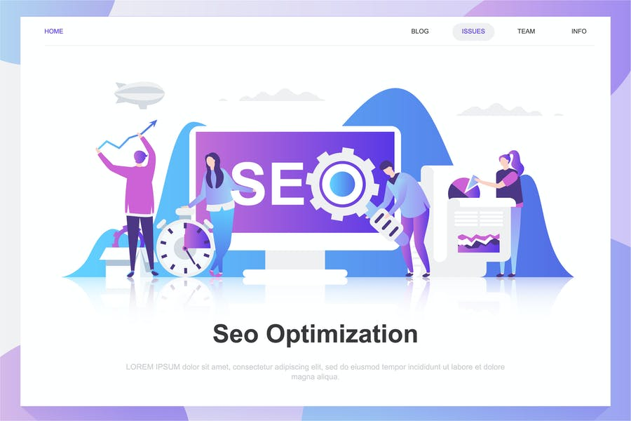 Seo Analysis Flat Concept