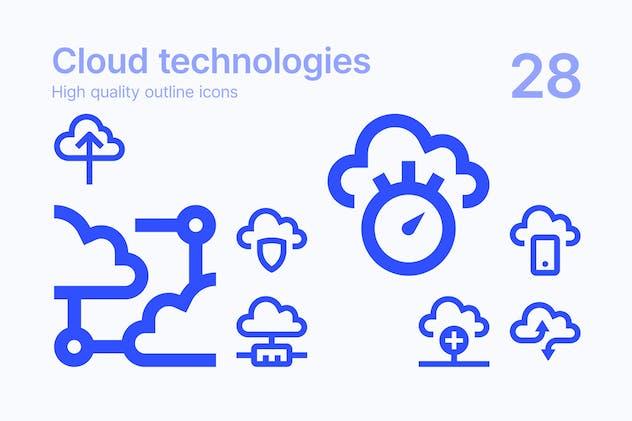 Cloud Technologies Icons