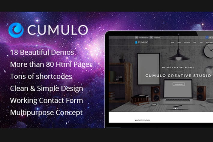 Thumbnail for Cumulo - Multipurpose HTML Theme