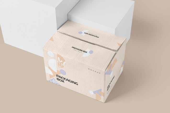 Thumbnail for Large Rectangular Cardboard Packaging Box Mockups
