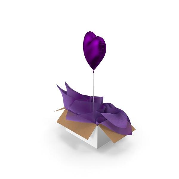 Purple Heart Balloon Surprise Box