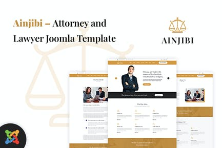 Ainjibi — Адвокат и юрист Joomla Шаблон