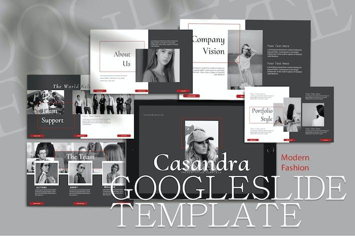 Thumbnail for CASANDRA - Мода Google Слайд Шаблон