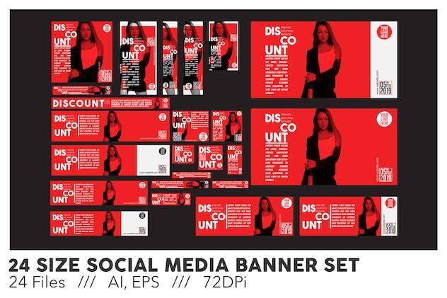 24 Size Social Media Banner Set