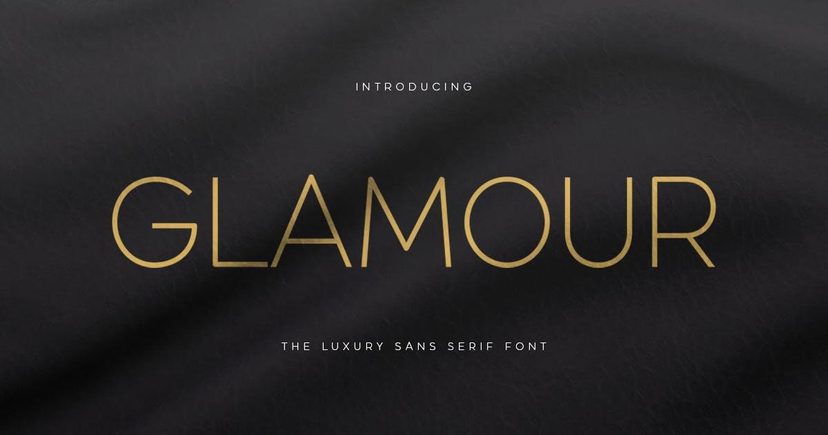 GLAMOUR - Luxury Sans Serif Font by HamzStudio