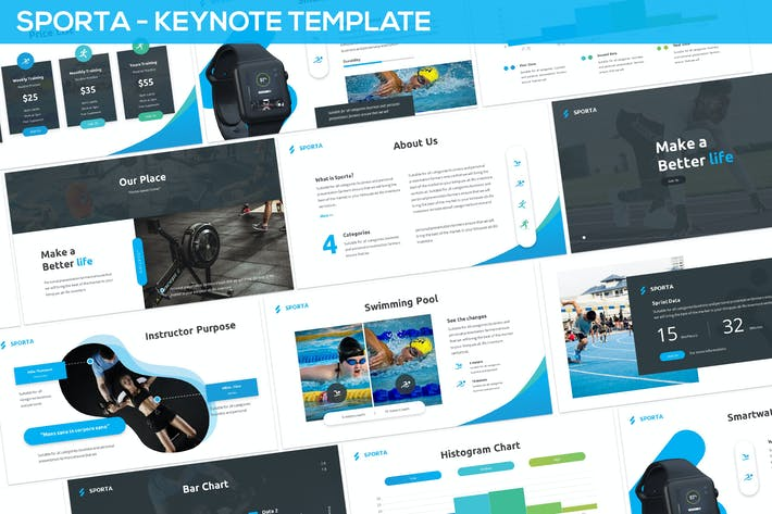 Thumbnail for Sporta - Keynote Presentation Template