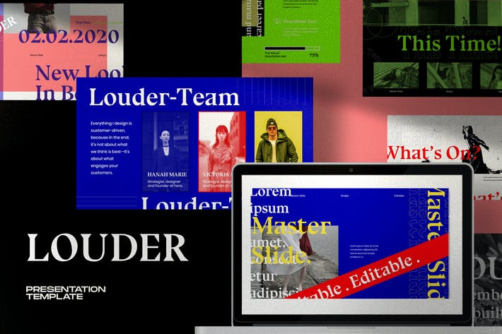 Louder - Urban Design Google Slide Creative Slide