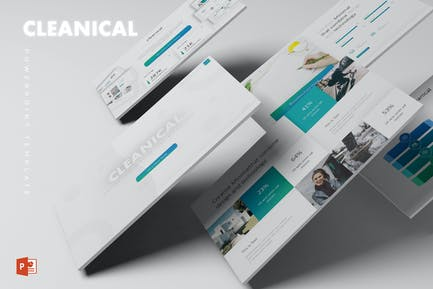 Plantilla de Powerpoint Cleanical