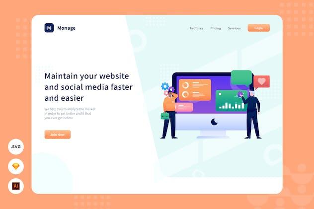 Social Media Maintenance - Website header - product preview 1