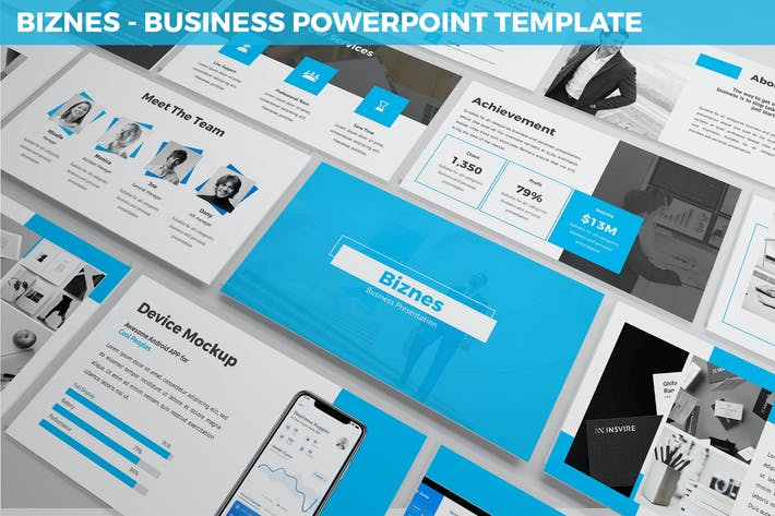 Thumbnail for Biznes - Business Powerpoint Template