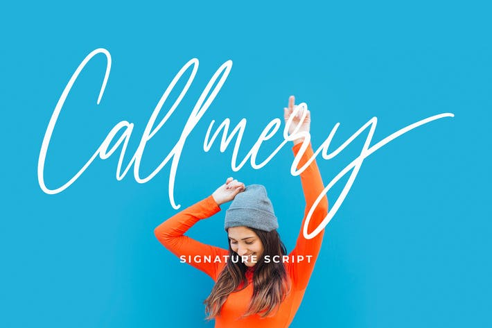 Thumbnail for Callmery Signature Script Font