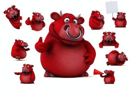 10 lustige rote Bullen!
