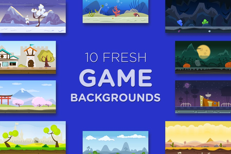 10 Fresh Game Backgrounds - product preview 0