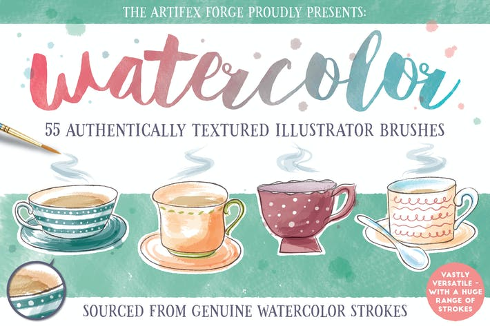 Thumbnail for Watercolor Brushes