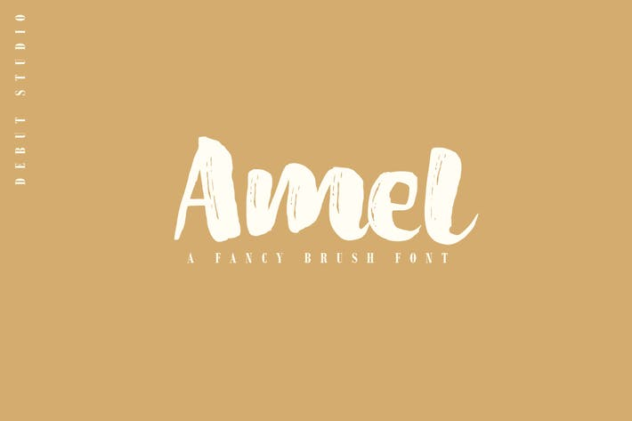Cover Image For Amel Brush Font