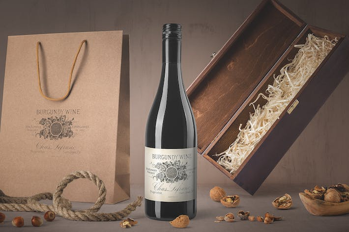 Cover Image For Wine Bottle Mockups Vol. 4