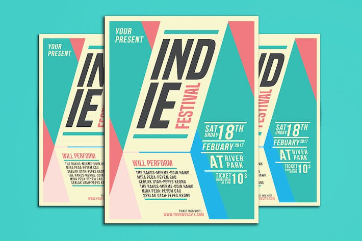 Cover Image For Indie Festival Flyer