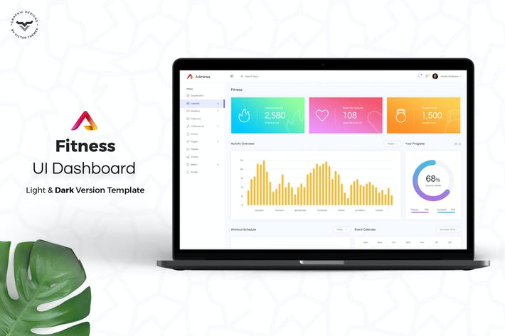 Thumbnail for Fitness Admin Dashboard UI Kit