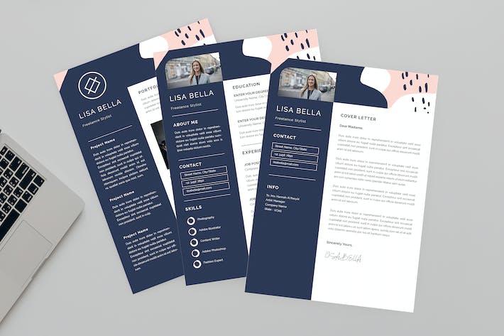 Thumbnail for Lisa Freelance Resume Designer