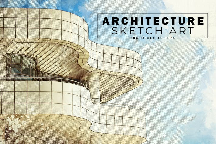Thumbnail for Architecture Sketch Art PS Actions