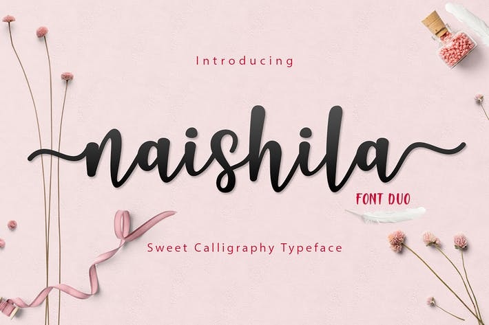 Thumbnail for Naishila Font Duo