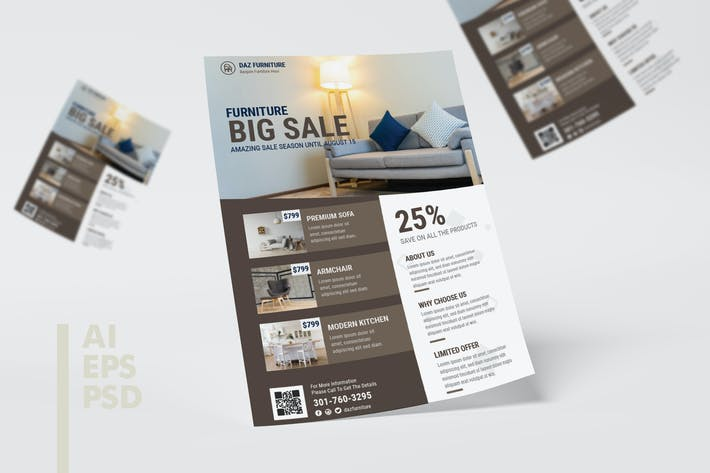 Thumbnail for Furniture Store Flyer Design