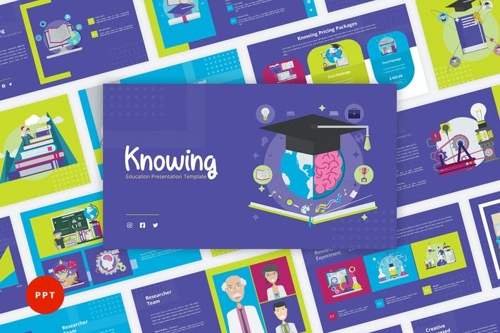 Thumbnail for Knowing - Education PowerPoint Template