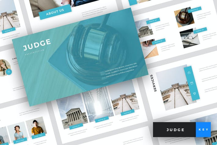 Thumbnail for Judge - Law Keynote Template