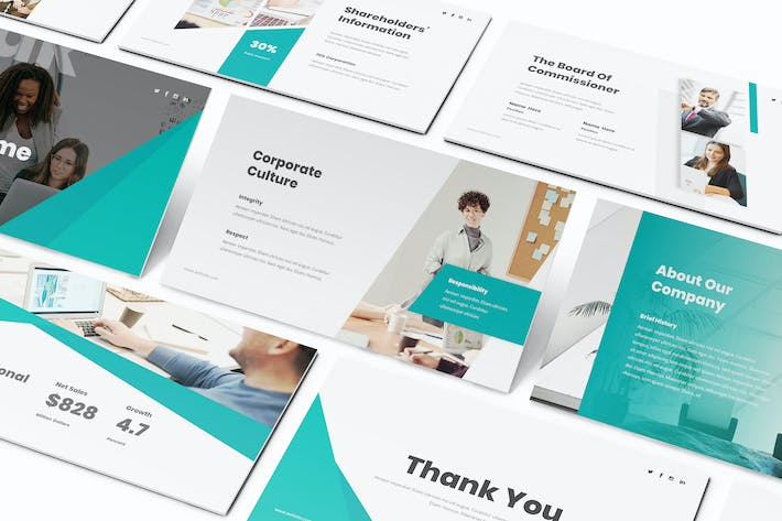 Thumbnail for Annual Report Keynote Template
