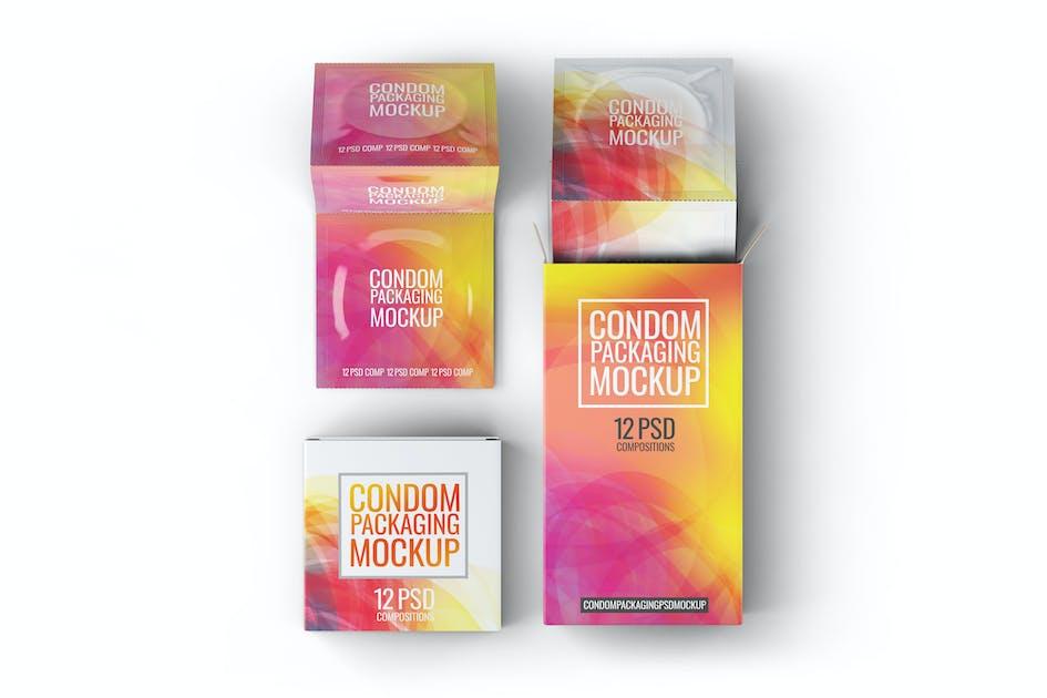 Download Сondoms Packaging Mock-Up by L5Design