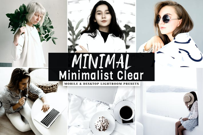 Thumbnail for MINIMAL Minimalist Clear Lightroom Presets