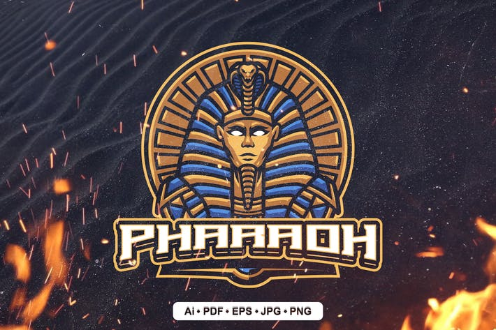 Pharaoh Mascot Logo for Esport and sport