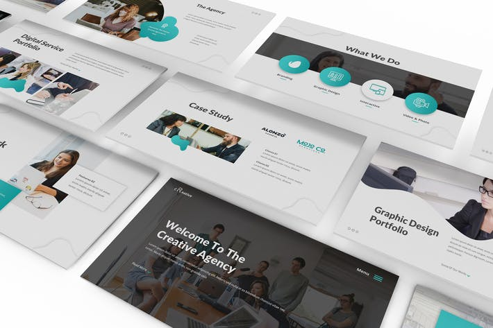 Thumbnail for Creative Agency Google Slides Template