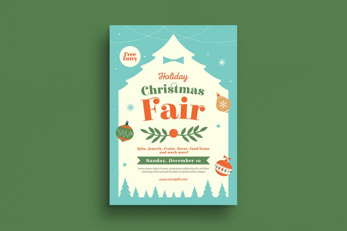 Cover Image For Holiday Christmas Fair Flyer