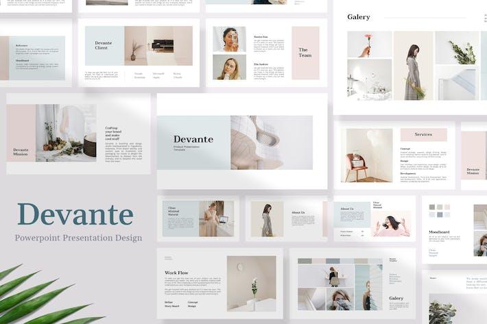 Cover Image For Devante - Шаблон презентации продукта Powerpoint