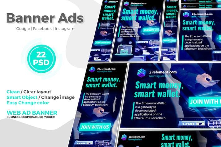 Thumbnail for Blockchain Platform Google Ads Web Banner V.1 - Tr
