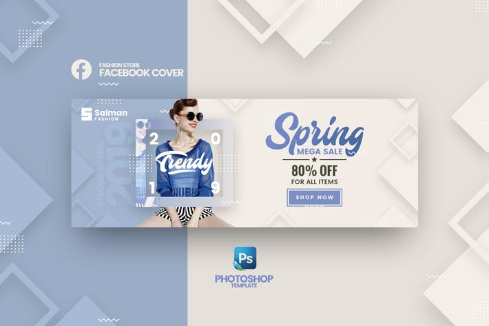 Thumbnail for Salman - Fashion Store Facebook Cover Template