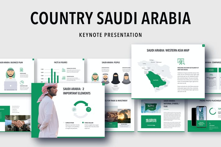 Thumbnail for Country Saudi Arabia Keynote Template