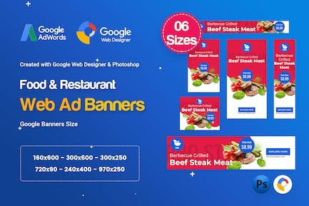 Food & Restaurant Banners HTML5 Ad D66