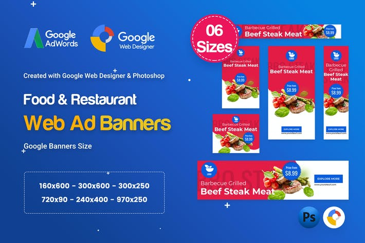 Thumbnail for Food & Restaurant Banners HTML5 Ad D66