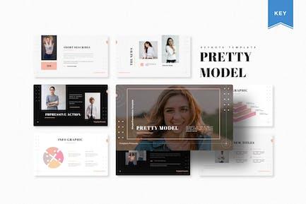 Pretty Model   Keynote Template